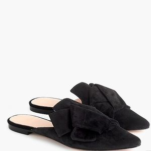 J Crew Marina Mules Pointed Toe Slides in Suede